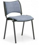 konferenčná čalúnená stolička, sivá Biedrax Z9094S
