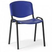 Konferenční plastová židle ISO, modrá Biedrax Z9517M, podnož černá