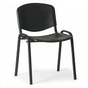 Konferenční plastová židle ISO, černá Biedrax Z9517C, podnož černá