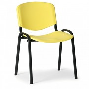 Konferenční plastová židle ISO, žlutá Biedrax Z9517ZL, podnož černá