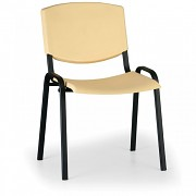 Konferenční plastová židle, žlutá Biedrax Z8982ZL, podnož černá