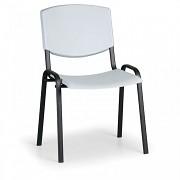 Konferenční plastová židle, šedá Biedrax Z8982S, podnož černá