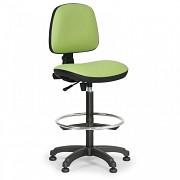 Dílenská židle Milano Biedrax Z9785Z s opěrným kruhem a kluzáky