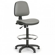 Dílenská židle Milano Biedrax Z9785S s opěrným kruhem a kluzáky
