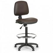 Dílenská židle Milano Biedrax Z9785H s opěrným kruhem a kluzáky