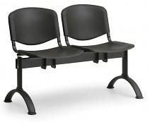 Plastová lavice do čekáren ISO Biedrax LC9680C - podnož černá