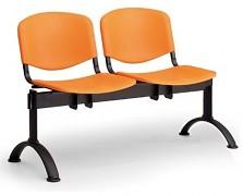 Plastová lavice do čekáren ISO Biedrax LC9680O - podnož černá
