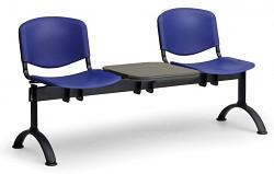 Plastová lavice do čekáren ISO Biedrax LC9690M - podnož černá