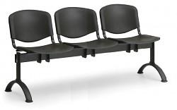 Plastová lavice do čekáren ISO Biedrax LC9700C - podnož černá