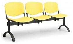 Plastová lavice do čekáren ISO Biedrax LC9700ZL - podnož černá