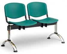 Plastová lavice do čekáren ISO Biedrax LC9681Z - podnož chromovaná