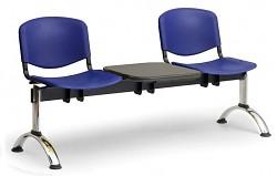 Plastová lavice do čekáren ISO Biedrax LC9691M - podnož chromovaná