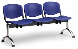 Plastová lavice do čekáren ISO Biedrax LC9701M - podnož chromovaná