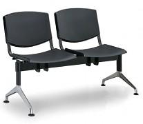 Plastová lavice do čekáren Smile Biedrax LC9952C - podnož leštěný hliník