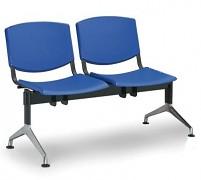 Plastová lavice do čekáren Smile Biedrax LC9952M - podnož leštěný hliník