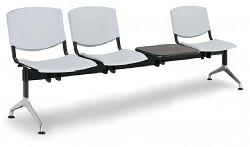 Plastová lavice do čekáren Smile Biedrax LC9970S - podnož leštěný hliník