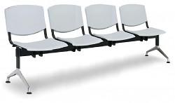 Plastová lavice do čekáren Smile Biedrax LC9976S - podnož leštěný hliník