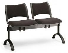 Čalouněná lavice do čekáren Smart Biedrax LC9212C - podnož černá