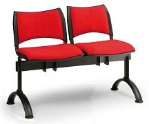 Čalouněná lavice do čekáren Smart Biedrax LC9212CV - podnož černá