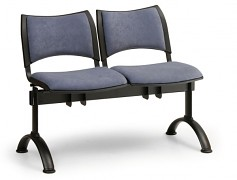 Čalouněná lavice do čekáren Smart Biedrax LC9212M - podnož černá