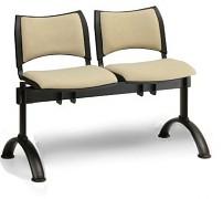 Čalouněná lavice do čekáren Smart Biedrax LC9212Z - podnož černá