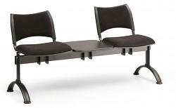 Čalouněná lavice do čekáren Smart Biedrax LC9213C - podnož černá