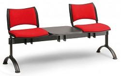Čalouněná lavice do čekáren Smart Biedrax LC9213CV - podnož černá