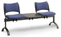 Čalouněná lavice do čekáren Smart Biedrax LC9213M - podnož černá