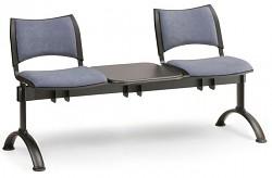 Čalouněná lavice do čekáren Smart Biedrax LC9213S - podnož černá