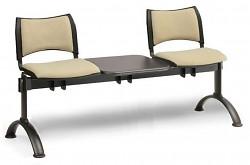 Čalouněná lavice do čekáren Smart Biedrax LC9213Z - podnož černá