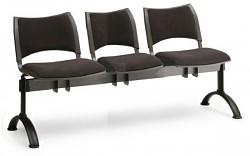 Čalouněná lavice do čekáren Smart Biedrax LC9214C - podnož černá