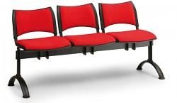 Čalouněná lavice do čekáren Smart Biedrax LC9214CV - podnož černá