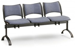 Čalouněná lavice do čekáren Smart Biedrax LC9214S - podnož černá