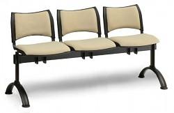 Čalouněná lavice do čekáren Smart Biedrax LC9214Z - podnož černá