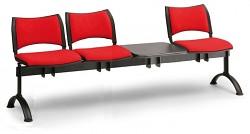 Čalouněná lavice do čekáren Smart Biedrax LC9215CV - podnož černá
