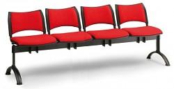 Čalouněná lavice do čekáren Smart Biedrax LC9216CV - podnož černá