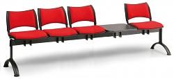 Čalouněná lavice do čekáren Smart Biedrax LC9217CV - podnož černá