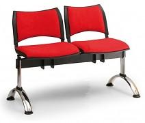 Čalouněná lavice do čekáren Smart Biedrax LC9218CV - podnož chromovaná