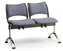 Čalouněná lavice do čekáren Smart Biedrax LC9218S - podnož chromovaná