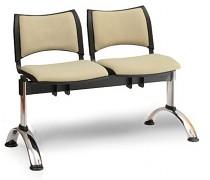 Čalouněná lavice do čekáren Smart Biedrax LC9218Z - podnož chromovaná