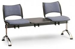 Čalouněná lavice do čekáren Smart Biedrax LC9219S - podnož chromovaná