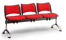 Čalouněná lavice do čekáren Smart Biedrax LC9220CV - podnož chromovaná