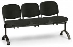 Čalouněná lavice do čekáren Viva Biedrax LC9370C - podnož černá