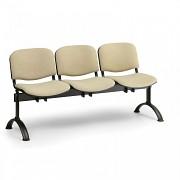 Čalouněná lavice do čekáren Viva Biedrax LC9370Z - podnož černá