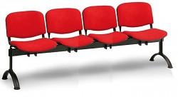 Čalouněná lavice do čekáren Viva Biedrax LC9372CV - podnož černá