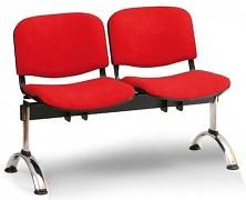 Čalouněná lavice do čekáren Viva Biedrax LC9374CV - podnož chromovaná