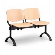 Dřevěná lavice do čekáren ISO Biedrax LC9740 - podnož černá