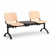 drevená lavica do čakární ISO Biedrax LC9742 - čierne nohy