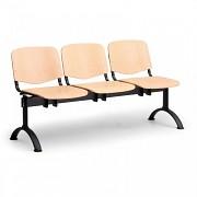 Dřevěná lavice do čekáren ISO Biedrax LC9744 - podnož černá