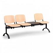 Dřevěná lavice do čekáren ISO Biedrax LC9746 - podnož černá